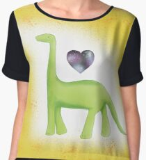 Galaxy Heart Dinosaur Dinky Women's Chiffon Top