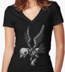 Zombird Women's Fitted V-Neck T-Shirt
