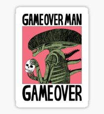 Game Over Man - Game Over Sticker