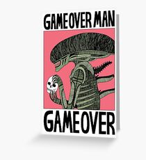 Game Over Man - Game Over Greeting Card