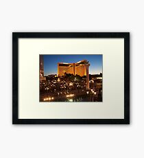 The Mirage in Vegas by Night Framed Print