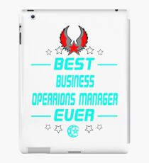 business opearions manager - solve and travel design iPad Case/Skin