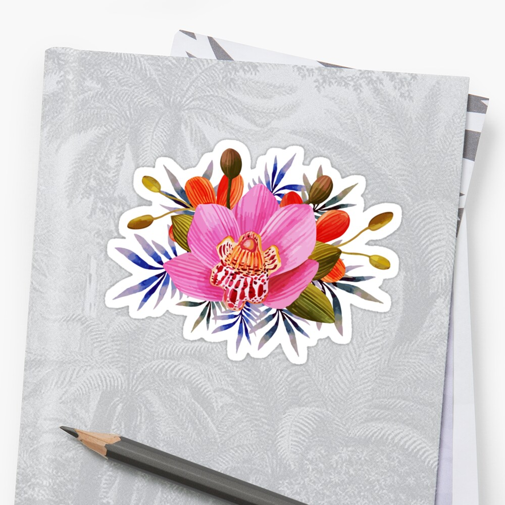 Beautiful lily flower stickers by casualforyou redbubble beautiful lily flower by casualforyou izmirmasajfo