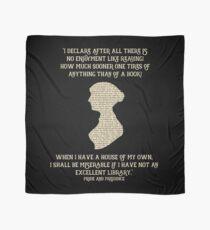 Jane Austen Book quote Pride and Prejudice Scarf