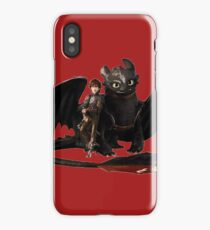 toothless with hiccup iPhone Case