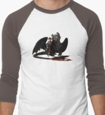 toothless with hiccup Men's Baseball ¾ T-Shirt