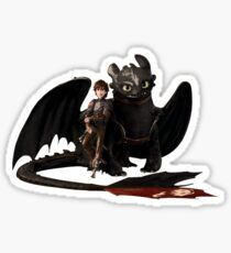 toothless with hiccup Sticker