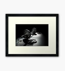 Olympic Weight Training Framed Print