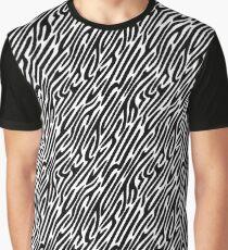 Zebra Stripes Pattern Graphic T-Shirt