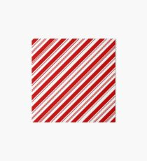 Merry Xmas peppermint stick red white Christmas Candy Cane  Art Board