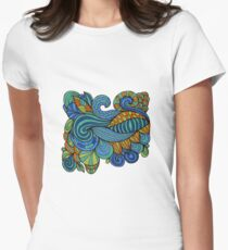 Colorful zen doodle psychedelic Womens Fitted T-Shirt