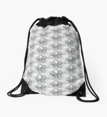 Artisan Flower Sketch Print 2 Drawstring Bag