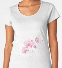 Fleurs d'orchidée à l'aquarelle T-shirt premium femme