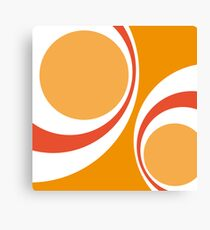 orange retro Canvas Print