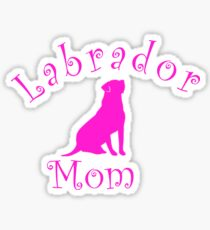 Lab Mom Sticker