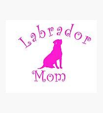 Lab Mom Photographic Print