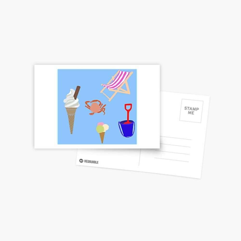 Summer at the coast Postcard