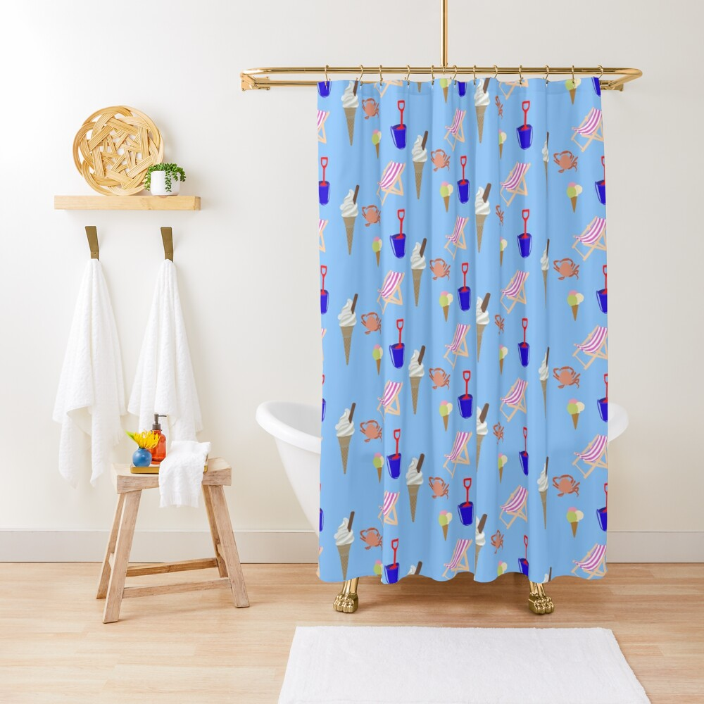 Summer at the coast Shower Curtain