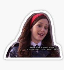 blair waldorf gossip girl Sticker