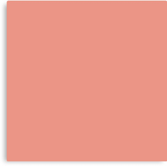 Boho Chic Girly Peach Color Blush Pink Coral Canvas Prints By