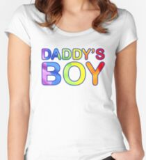 DADDY'S BOY Women's Fitted Scoop T-Shirt