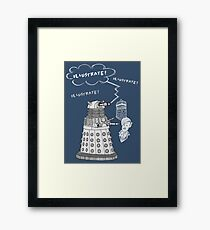 Illustrate Dalek Framed Print