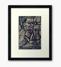 Perplexed (Ink Drawing)- Framed Print