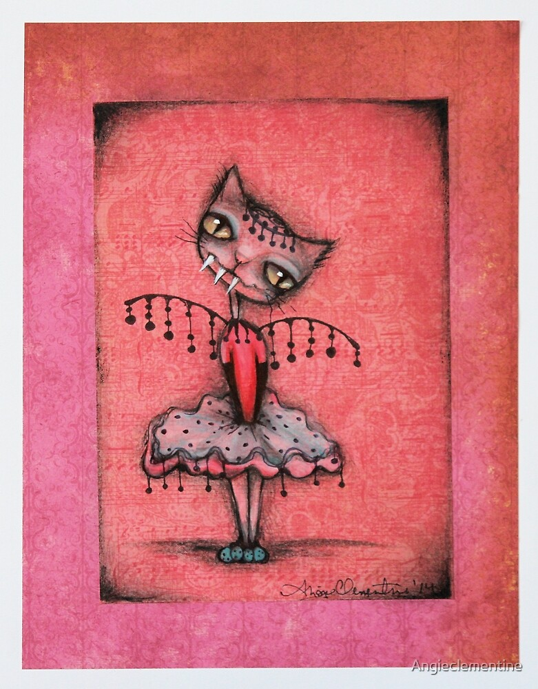 Dancing Kitty - Original Cat art by ANGIECLEMENTINE by Angieclementine