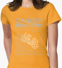 Cancer facts Womens Fitted T-Shirt