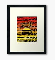Delorean Time Machine Framed Print
