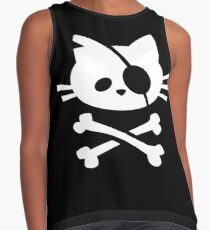Pirate Cat: Skull and Crossbone Contrast Tank