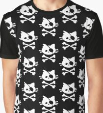 Pirate Cat: Skull and Crossbone Graphic T-Shirt
