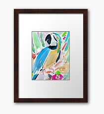 INDIGO THE MACAW Framed Print
