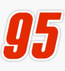 95 Lightning Mcqueen Number Cars 3  Sticker