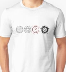 Supernatural Protection (Dark Symbols) Unisex T-Shirt