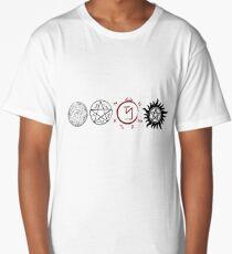 Supernatural Protection (Dark Symbols) Long T-Shirt