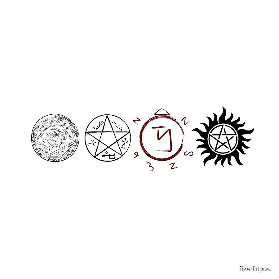 Supernatural protection dark symbols clocks by fixedinpost supernatural protection dark symbols biocorpaavc Images