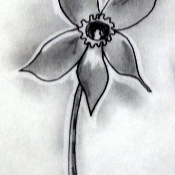 Artisan Flower Sketch Print 5 by rebeccagalardo