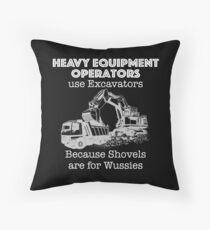 Heavy Equipment Operator T Shirt for Excavators  Throw Pillow