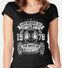 Born In 1978 Women's Fitted Scoop T-Shirt