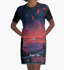 NASA Space Tourism Posters: Trappist 1 Graphic T-Shirt Dress