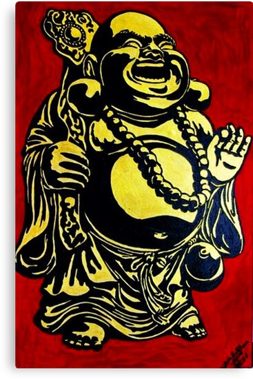 smile buddha by Silvia Müller