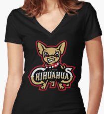 el paso chihuahua Women's Fitted V-Neck T-Shirt