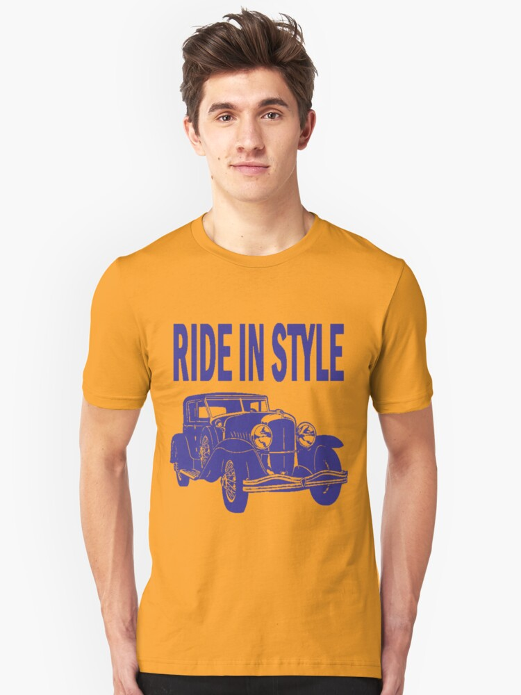 RIDE IN STYLE-CLASSIC Unisex T-Shirt Front