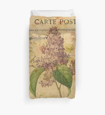 purpurrote lila Vintage Blumenparis botanische Kunst Bettbezug