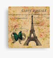 vintage butterfly paris eiffel tower fashion Canvas Print