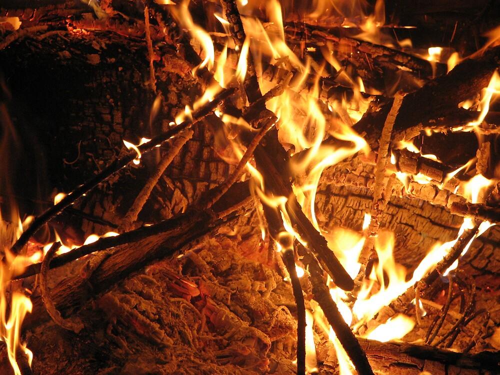 fire at night by aathomas