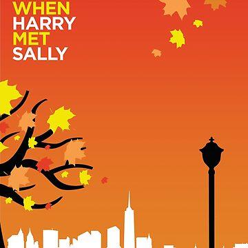 When Harry Met Sally // Minimalist Art by DrawnToMind