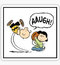 CHARLIE BROWN AND LUCY FOOTBALL Sticker
