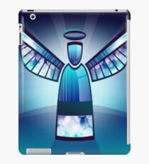 Angel In Blue Stained Glass  iPad Case/Skin
